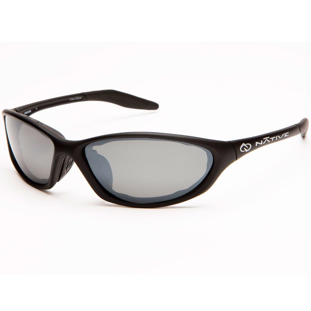 NATIVE EYEWEAR Silencer Polarized Sunglasses - Blk asphlt/slvr rflx