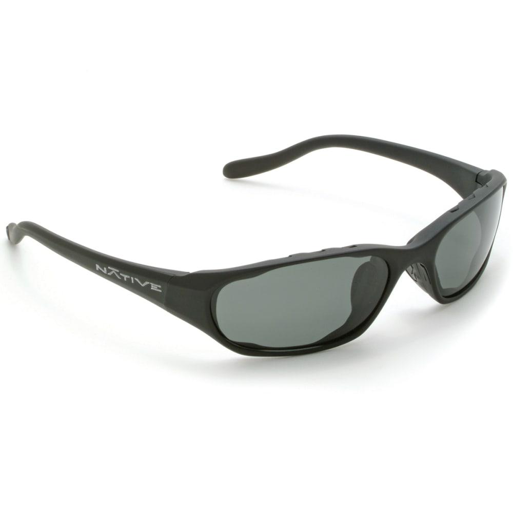 NATIVE EYEWEAR Throttle Sunglasses, Asphalt/Grey - MATTE BLACK