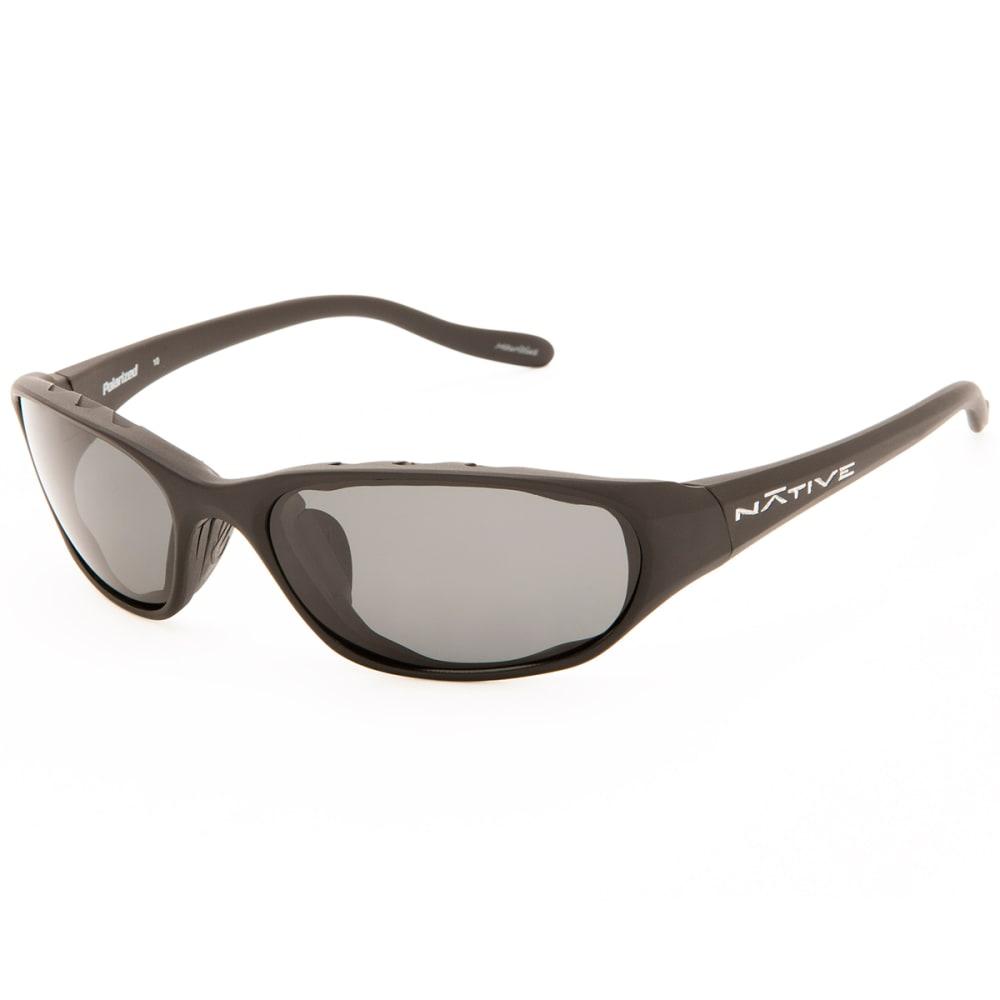 NATIVE EYEWEAR Throttle Sunglasses, Asphalt/Grey - MATTE BLACK