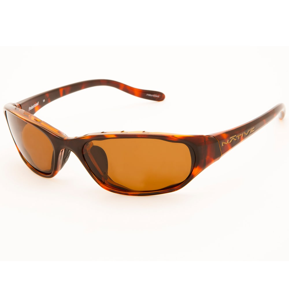 NATIVE EYEWEAR Throttle Sunglasses, Maple Tort/Brown - MAPLE TORT/BROWN