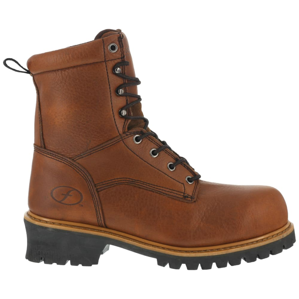 FLORSHEIM Men's Lumber Jack Work Boots - BROWN