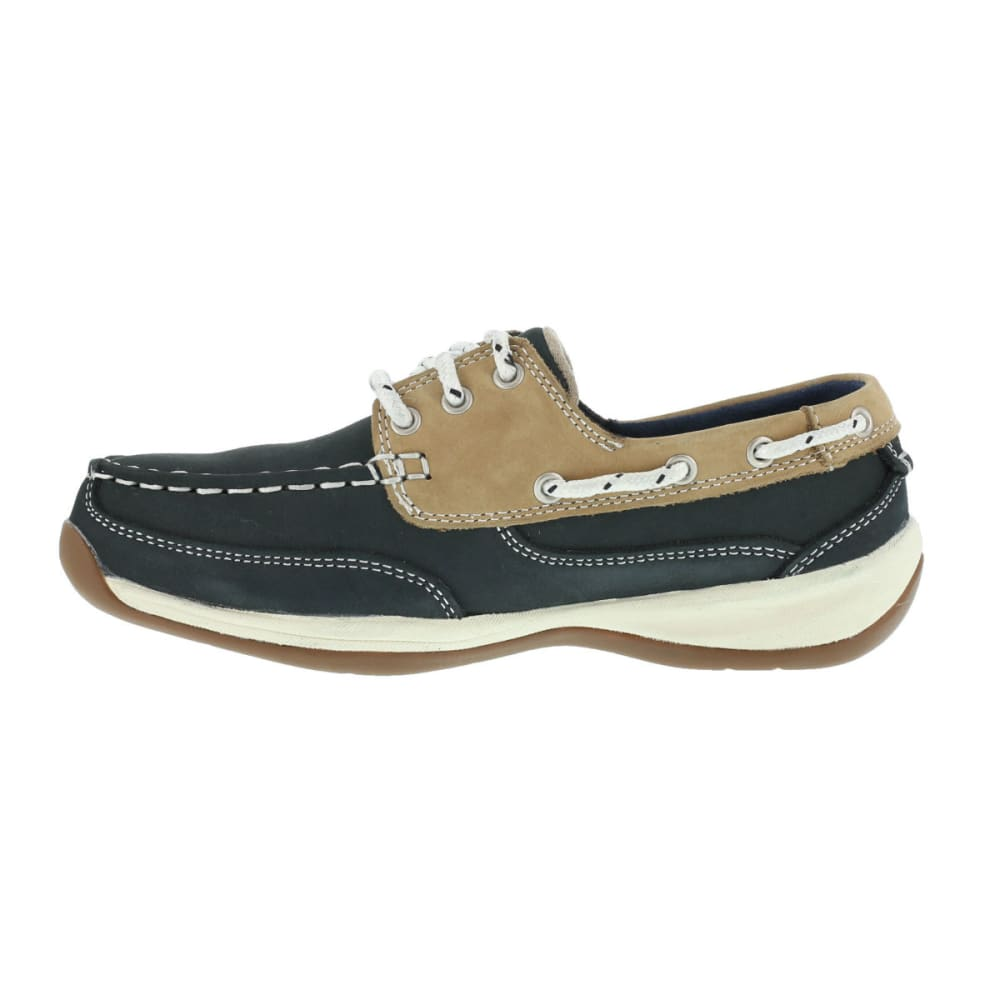 ROCKPORT WORKS Women's Sailing Club Shoes - BLUE/TAN