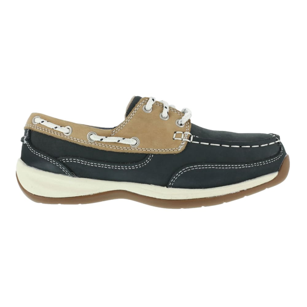 ROCKPORT WORKS Women's Sailing Club Shoes, Wide - BLUE/TAN
