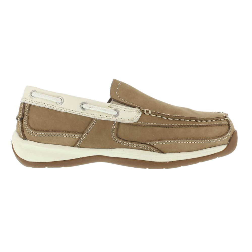 ROCKPORT WORKS Women's Sailing Club Shoes, Wide - TAN/CREAME