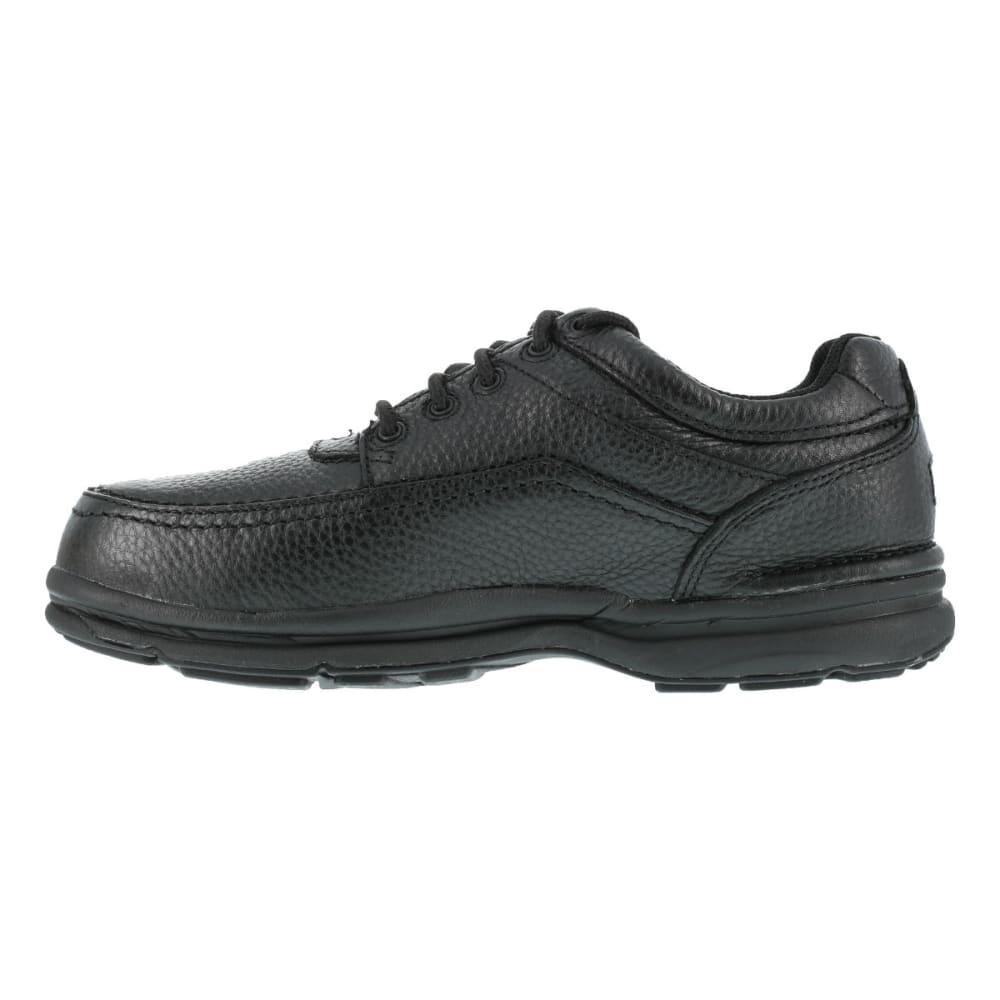 ROCKPORT WORKS Men's World Tour Steel Toe 5 Eye Tie Casual Moc Toe Oxford Shoe - BLACK