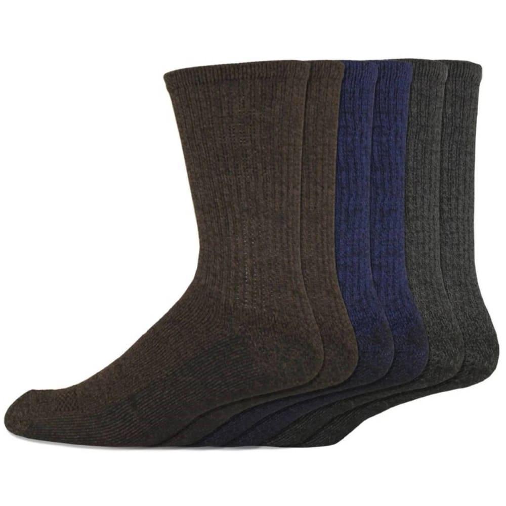 DICKIES Men's Dri-Tech Comfort Crew Socks, 6 Pack L