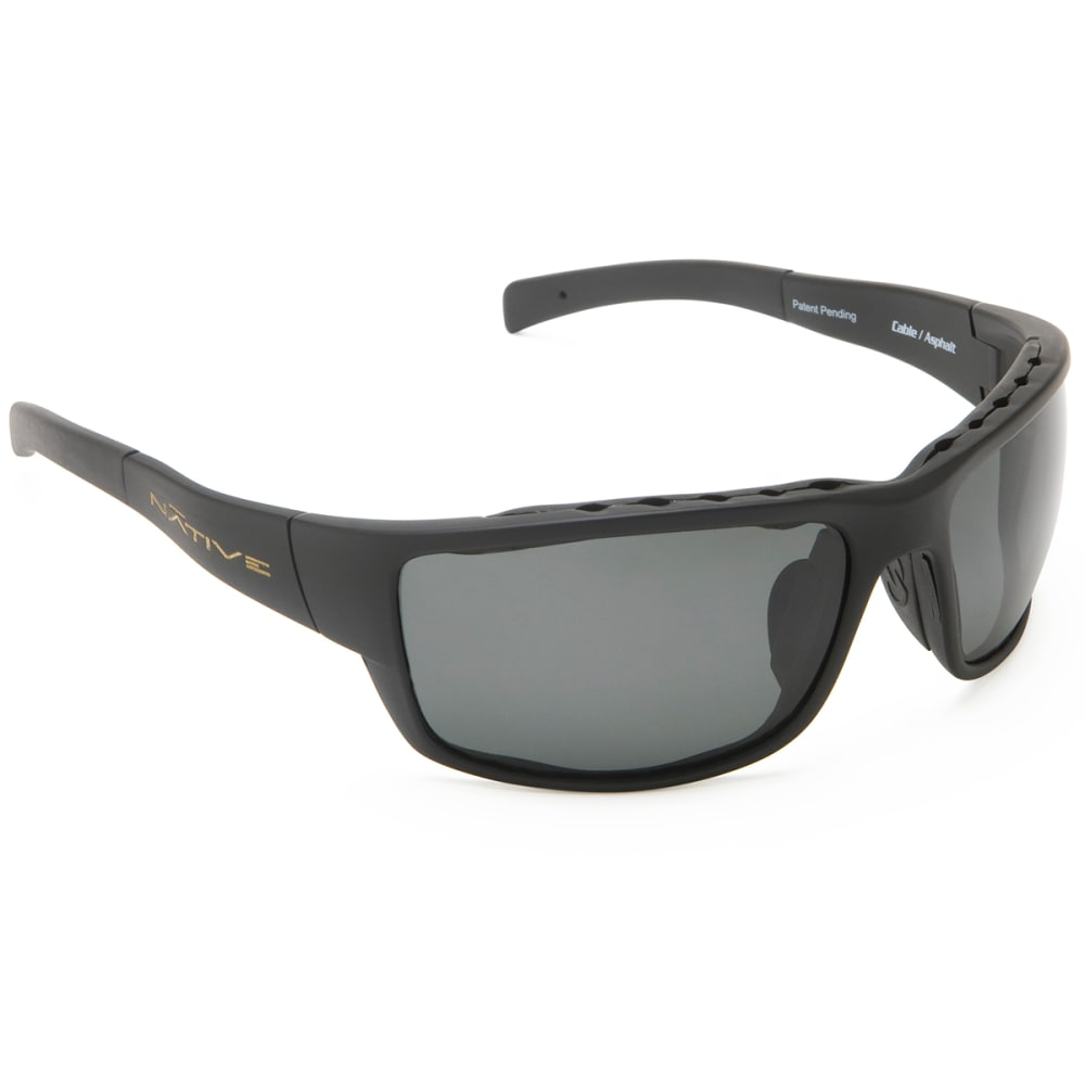 NATIVE EYEWEAR Cable Sunglasses, Asphalt/Gray - ASPHALT/GRAY