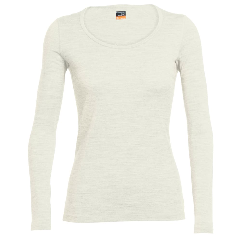 ICEBREAKER Women's Oasis Long Sleeve Scoop - SNOW