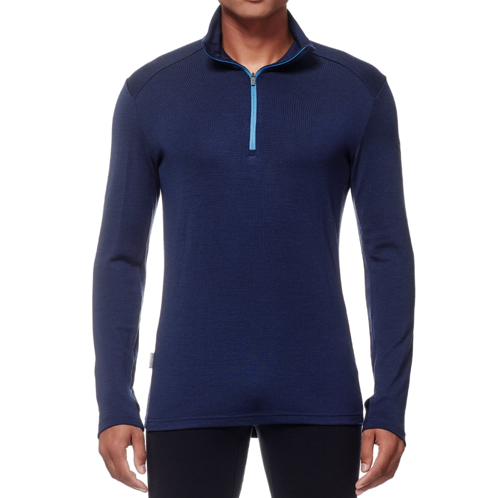 ICEBREAKER Men's Tech Top Long Sleeve Half Zip - ADMIRAL/ADML/PEL