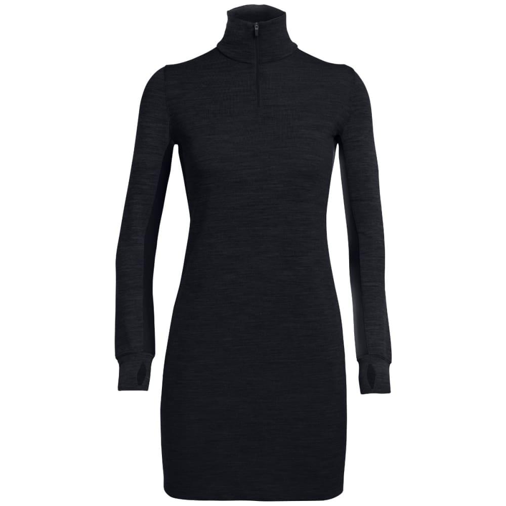 ICEBREAKER Women's Affinity Dress - BLACK/JET HTHR/BLK