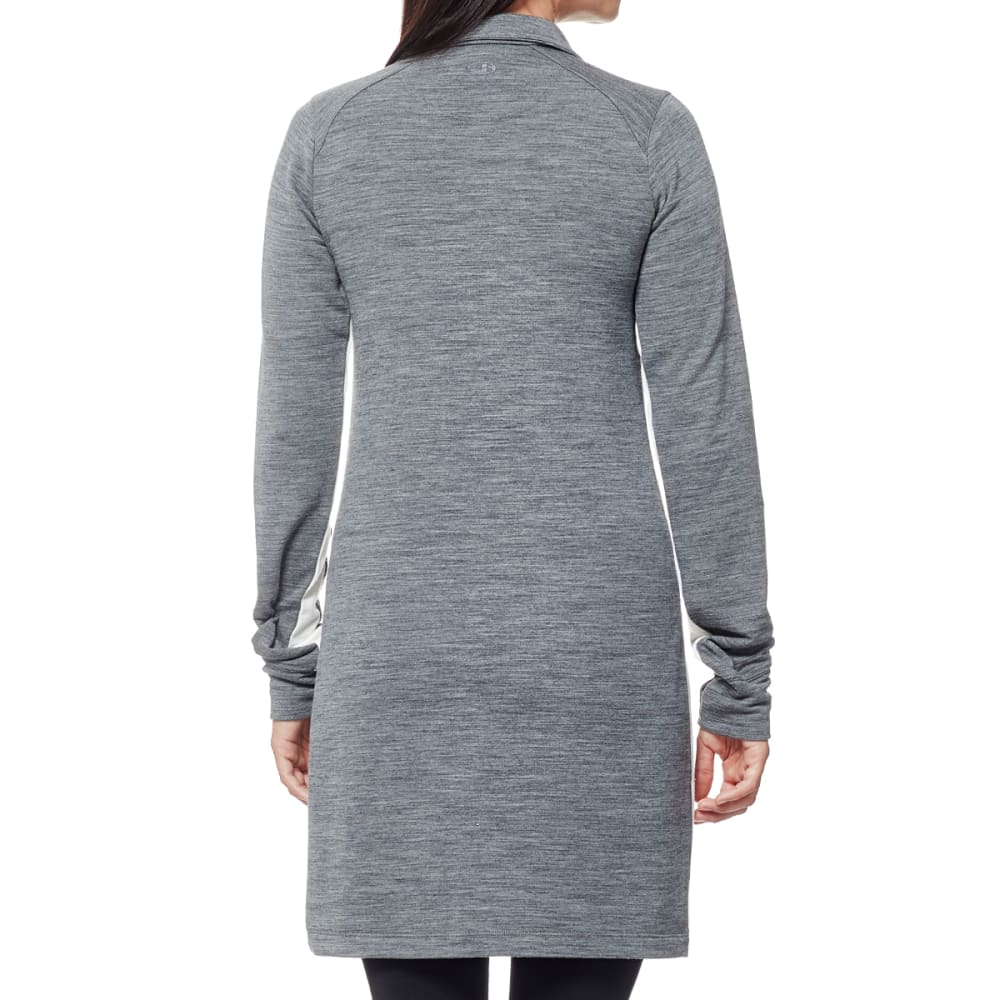 ICEBREAKER Women's Affinity Dress - GRITSTONE/SNOW/GRITS