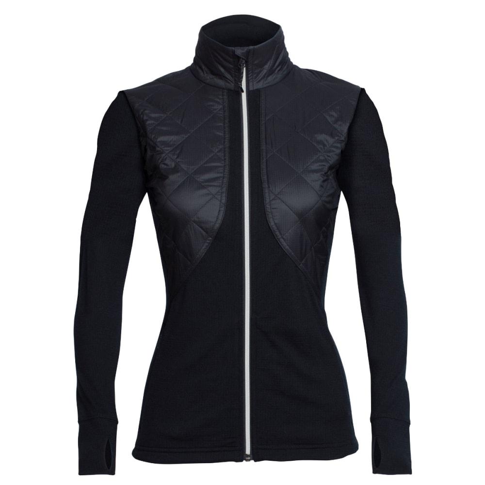 ICEBREAKER Women's Ellipse Long Sleeve Zip - BLK/BLK/SNOW