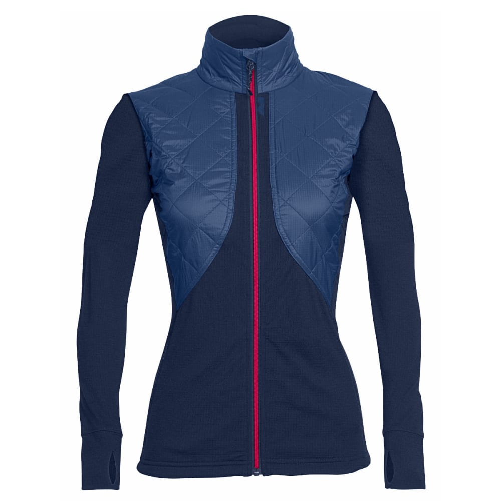 ICEBREAKER Women's Ellipse Long-Sleeve Zip - ADMIRAL/ADML/PNK