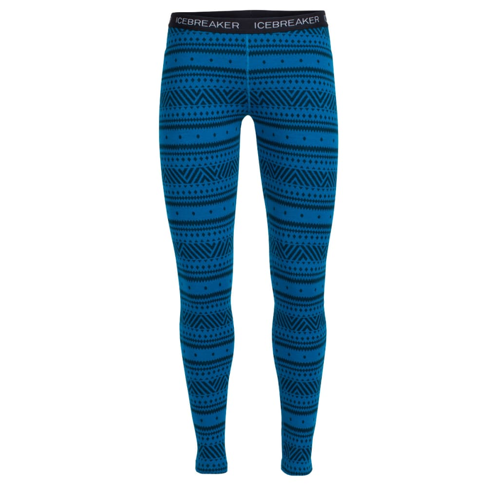 ICEBREAKER Women's Vertex Leggings Icon Fairisle - ALPINE/JET HTHR/BLAC