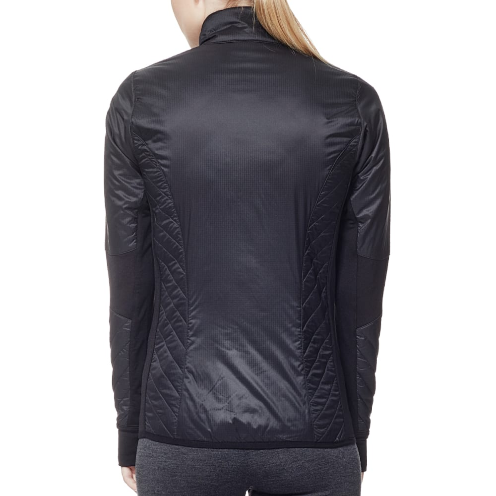 ICEBREAKER Women's Helix Long Sleeve Zip - BLACK/BLACK