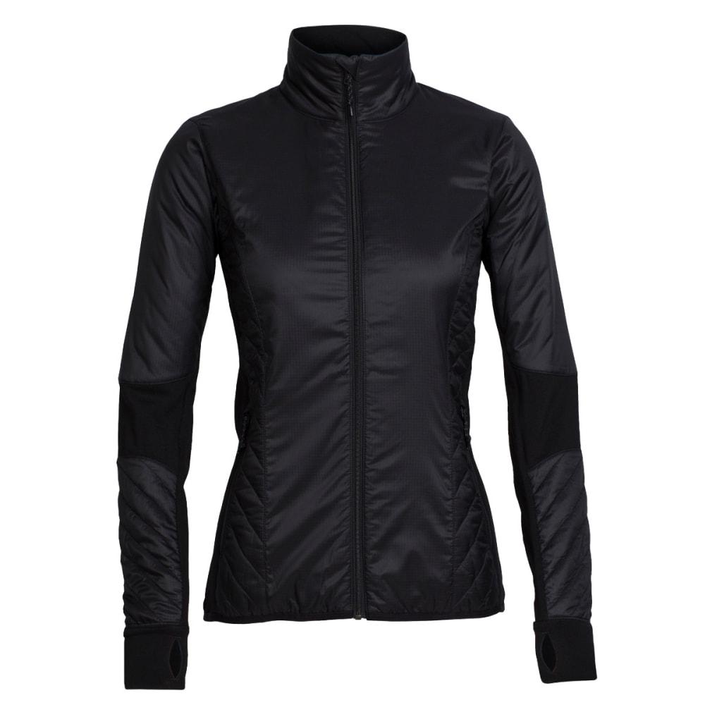 ICEBREAKER Women's Helix Long Sleeve Zip - BLACK/BLACK