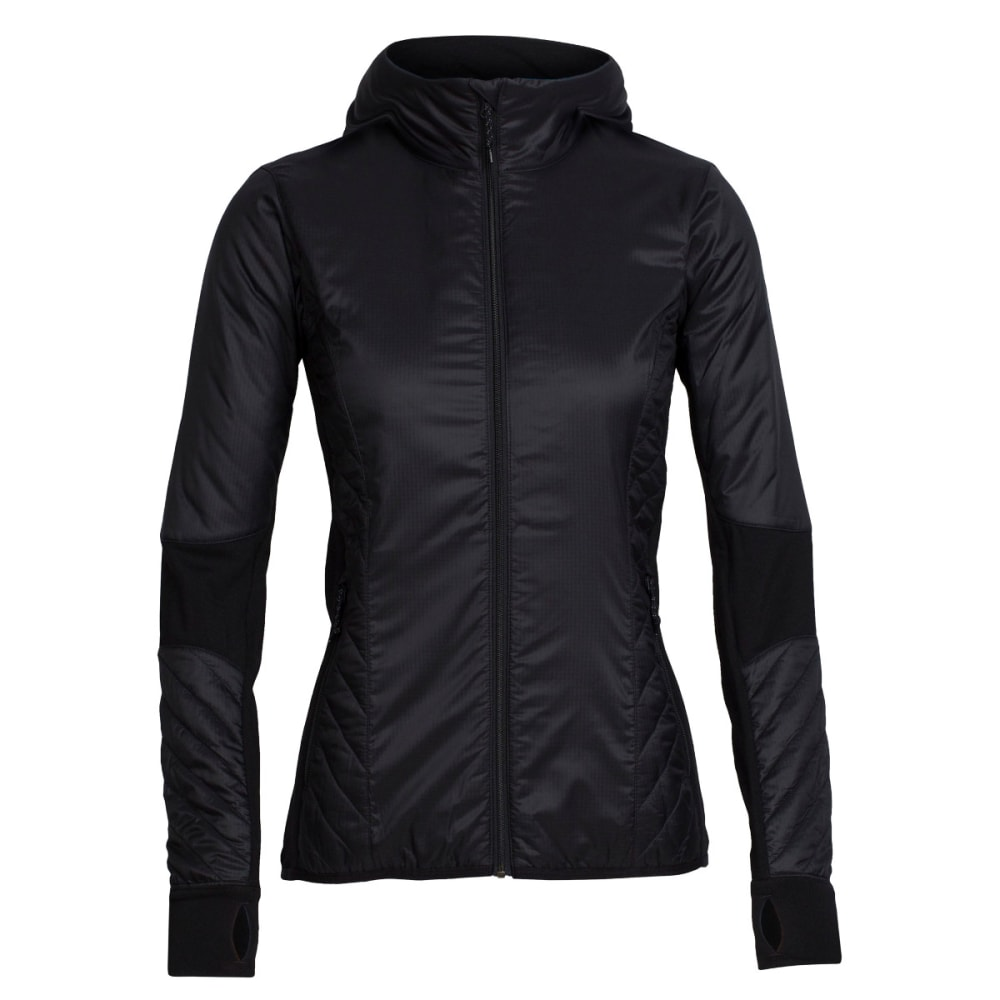 ICEBREAKER Women's Helix Long Sleeve Zip Hood - BLACK