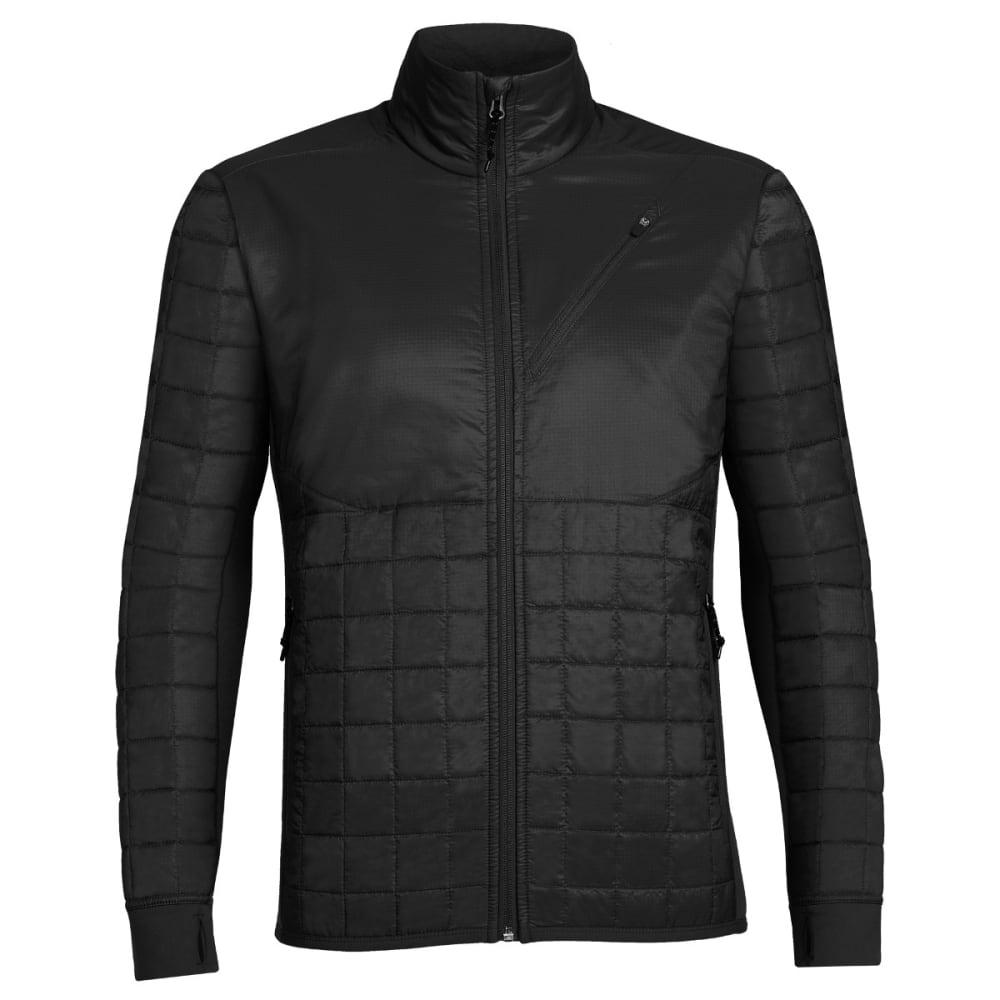 ICEBREAKER Men's Helix Long Sleeve Zip - BLACK/BLACK/BLACK
