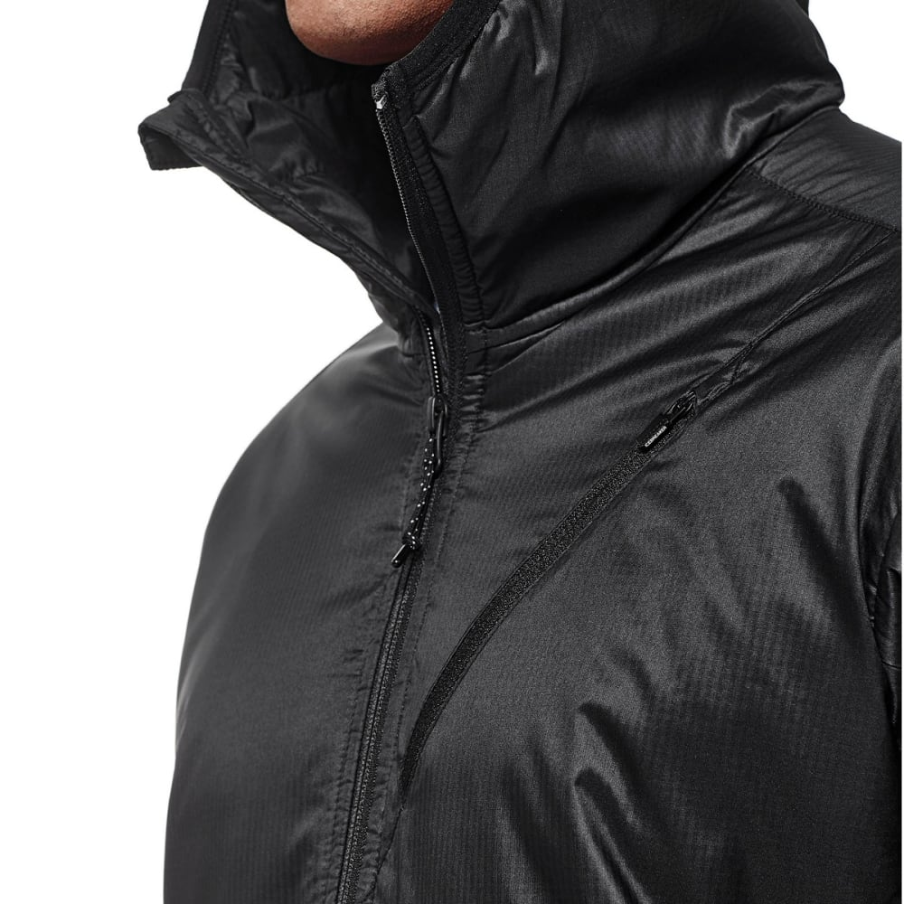 ICEBREAKER Men's Helix Long Sleeve Zip Hood - BLACK/BLACK/BLACK