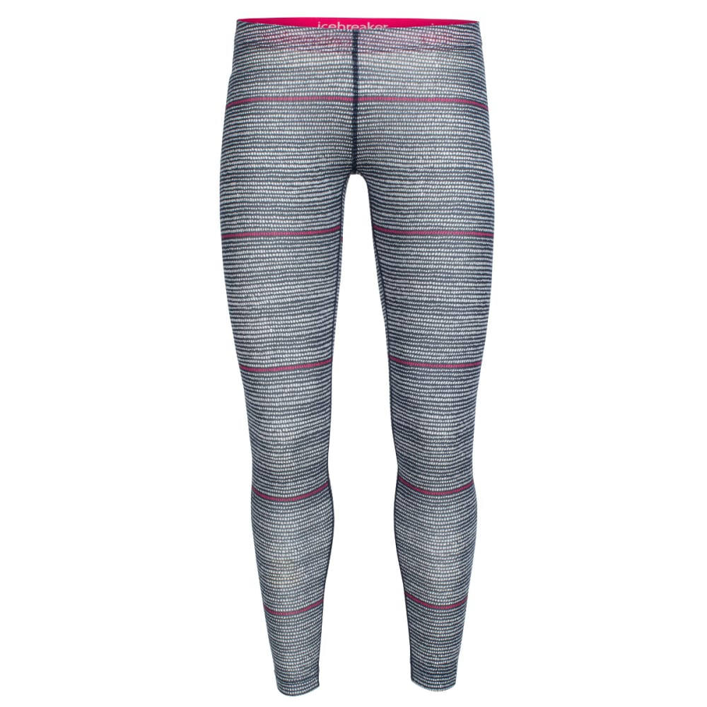 ICEBREAKER Women's Sprite Leggings, Impulse - ADMIRAL/SNOW/PNK