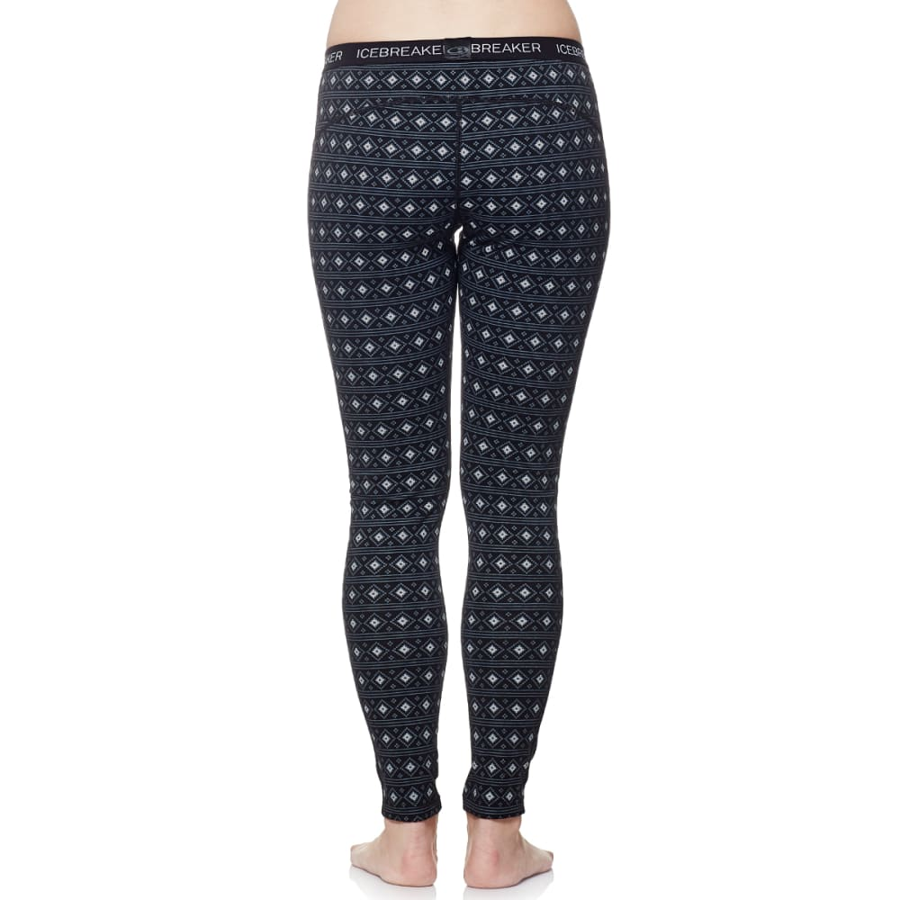 ICEBREAKER Women's Oasis Leggings - BLACK/SNOW/BLACK