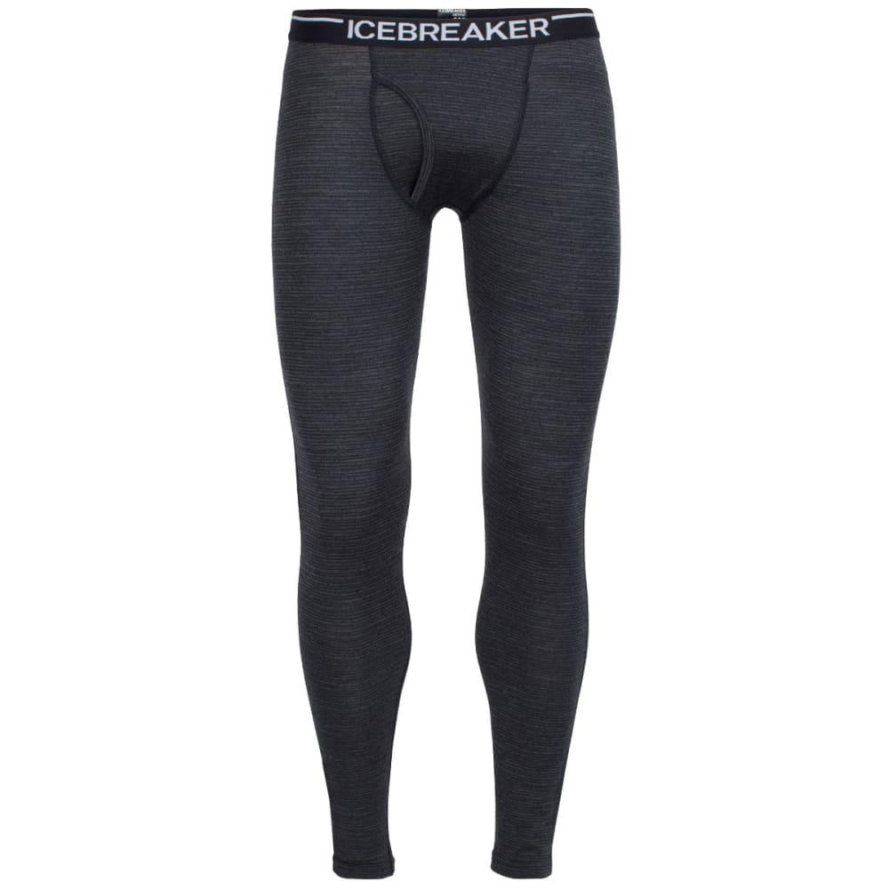 ICEBREAKER Men's Oasis Leggings with fly, Toothstripe - BLACK/JET HTHR/BLACK