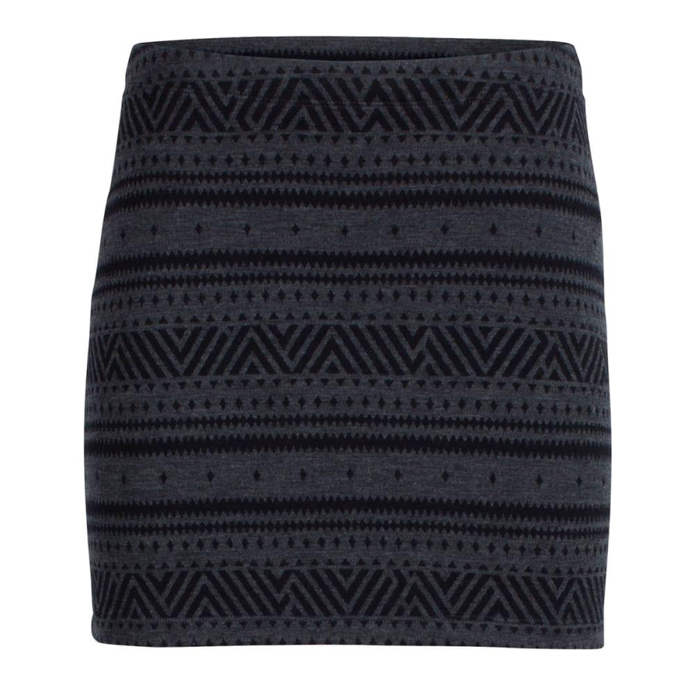 ICEBREAKER Women's Vertex Skirt, Icon Fairisle - JET HTHR/BLK/JET HTH