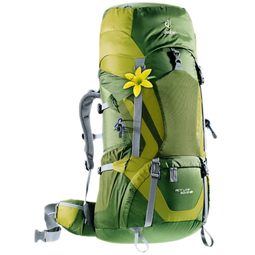 DEUTER Women's ACT Lite 60 + 10 SL Pack - PINE/MOSS