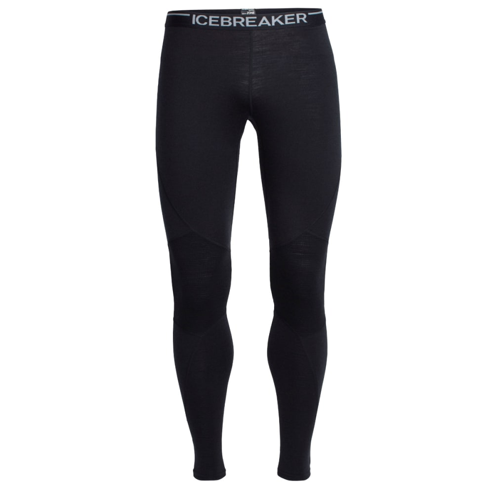 ICEBREAKER Men's Winter Zone Leggings - BLACK/BLACK/BLACK