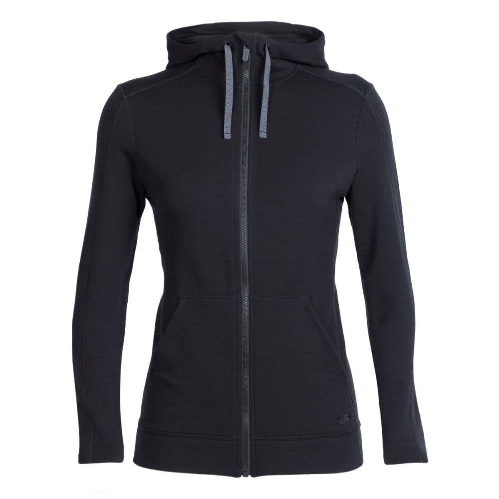 ICEBREAKER Women's Dia Long Sleeve Zip Hood - BLACK/BLACK/BLACK