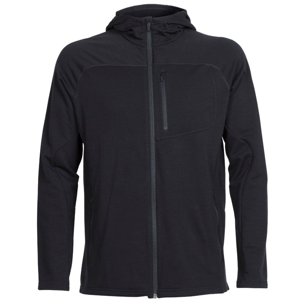 ICEBREAKER Men's Mt. Elliot Long Sleeve Hood - BLACK/BLACK/BLACK