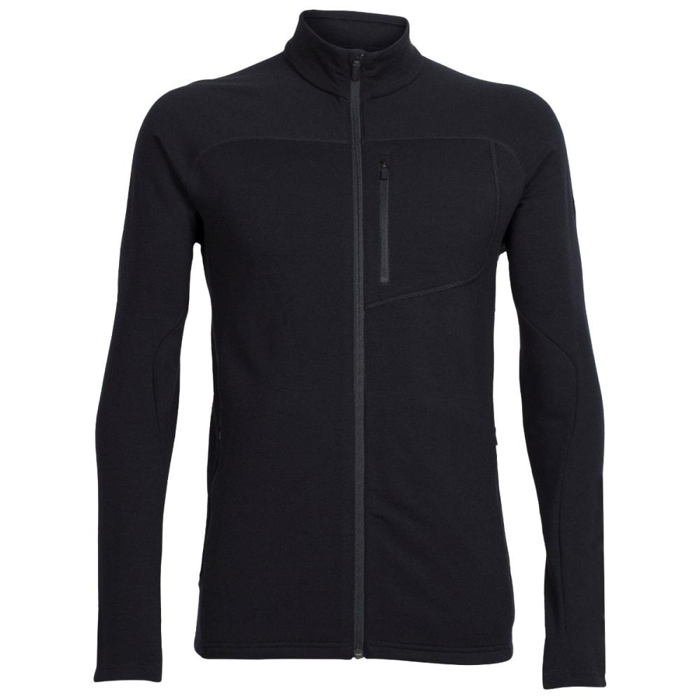 ICEBREAKER Men's Mt. Elliot Long Sleeve Zip - BLACK/BLACK/BLACK