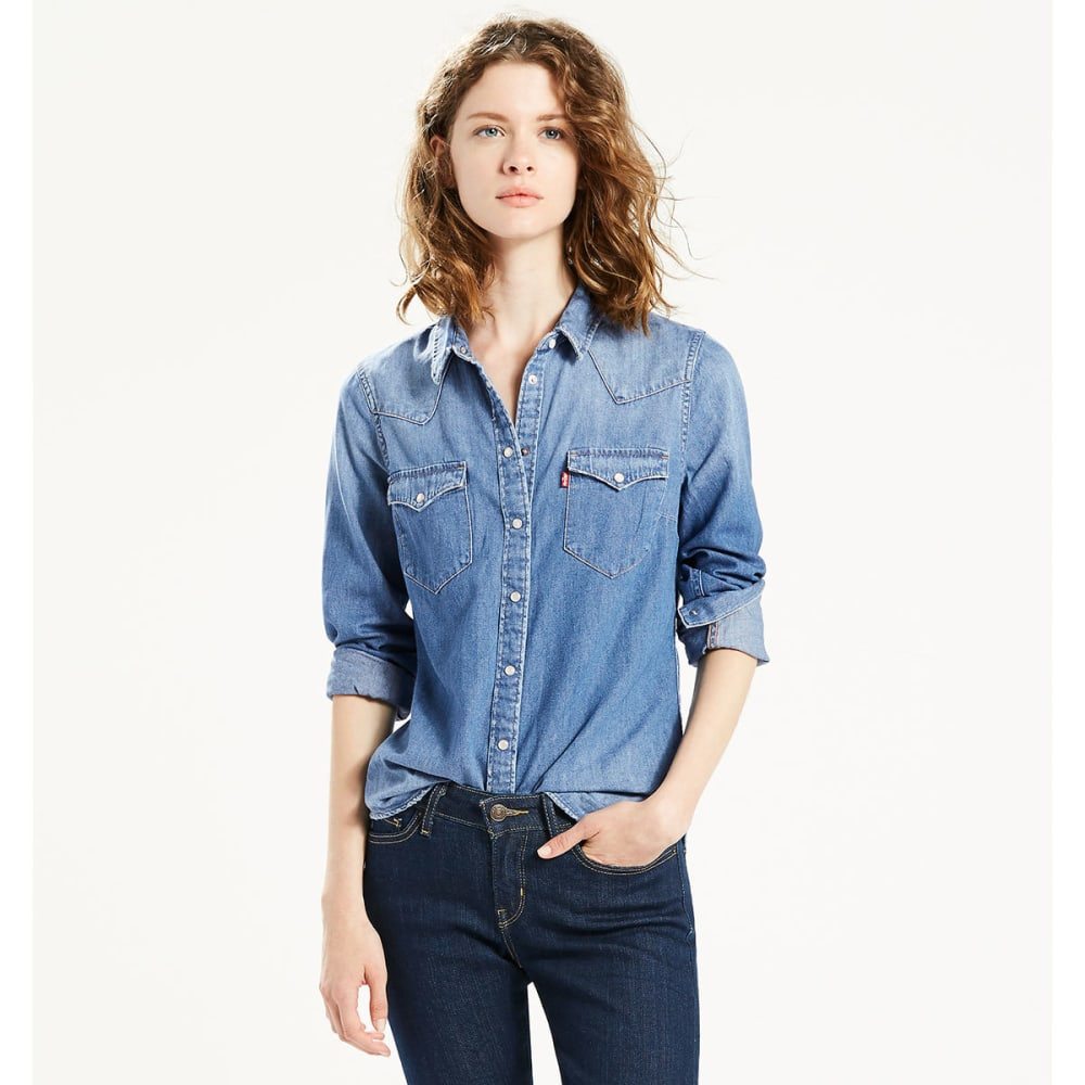 Levis Women's Classic Denim Shirt - Blue 17269 DENIM