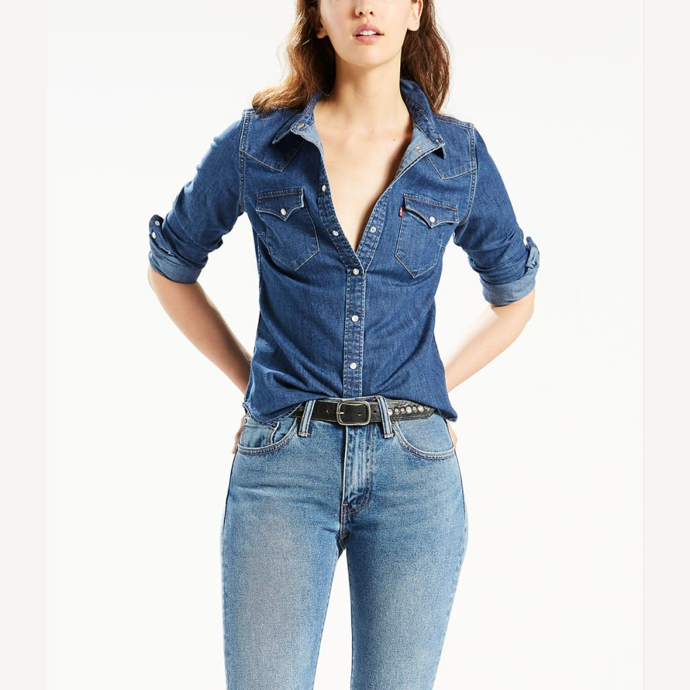 LEVI'S Women's Classic Denim Shirt - 0037-VINTAGE MEDIUM