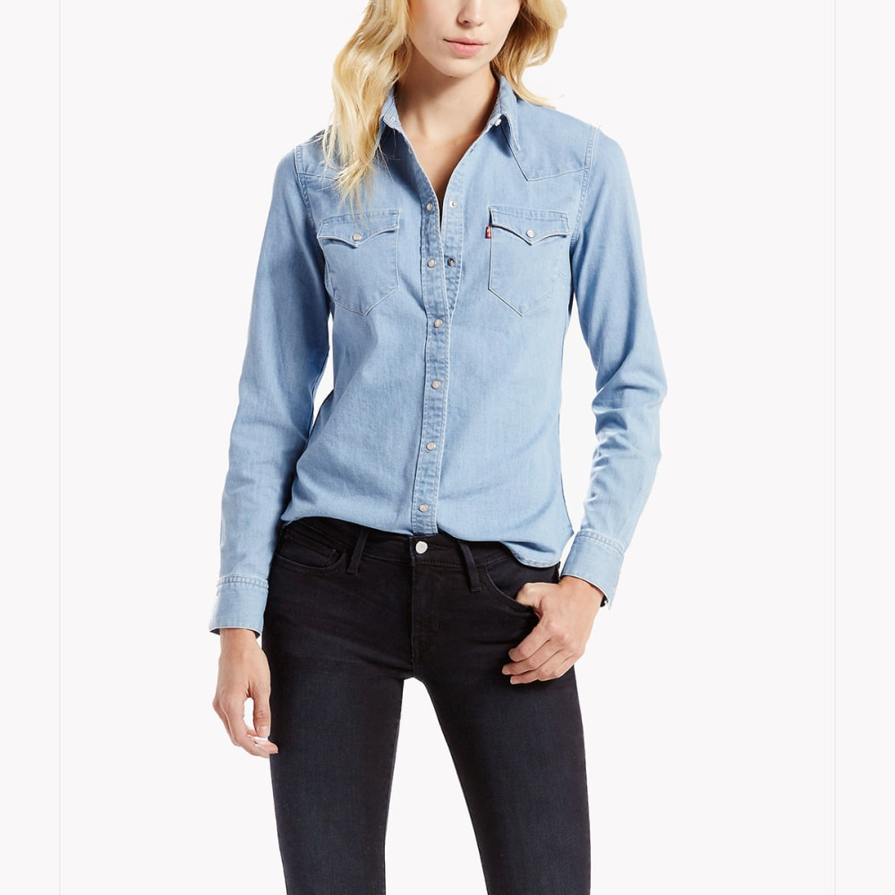 LEVI'S Women's Classic Denim Shirt - 0035-VINTAGE LIGHT