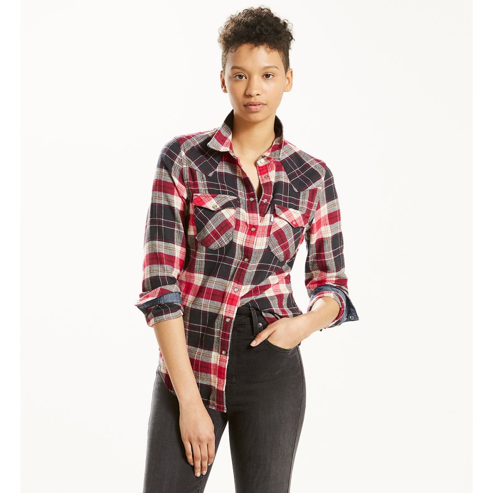 LEVI'S Women's Classic Western Plaid Shirt S