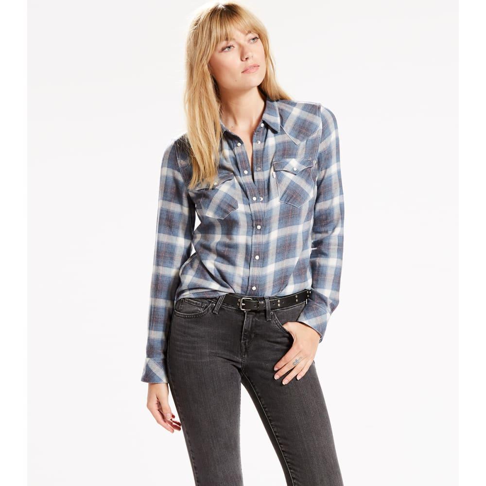 LEVI'S Women's Classic Western Plaid Shirt - 0045-PARS ESTTE BLUE
