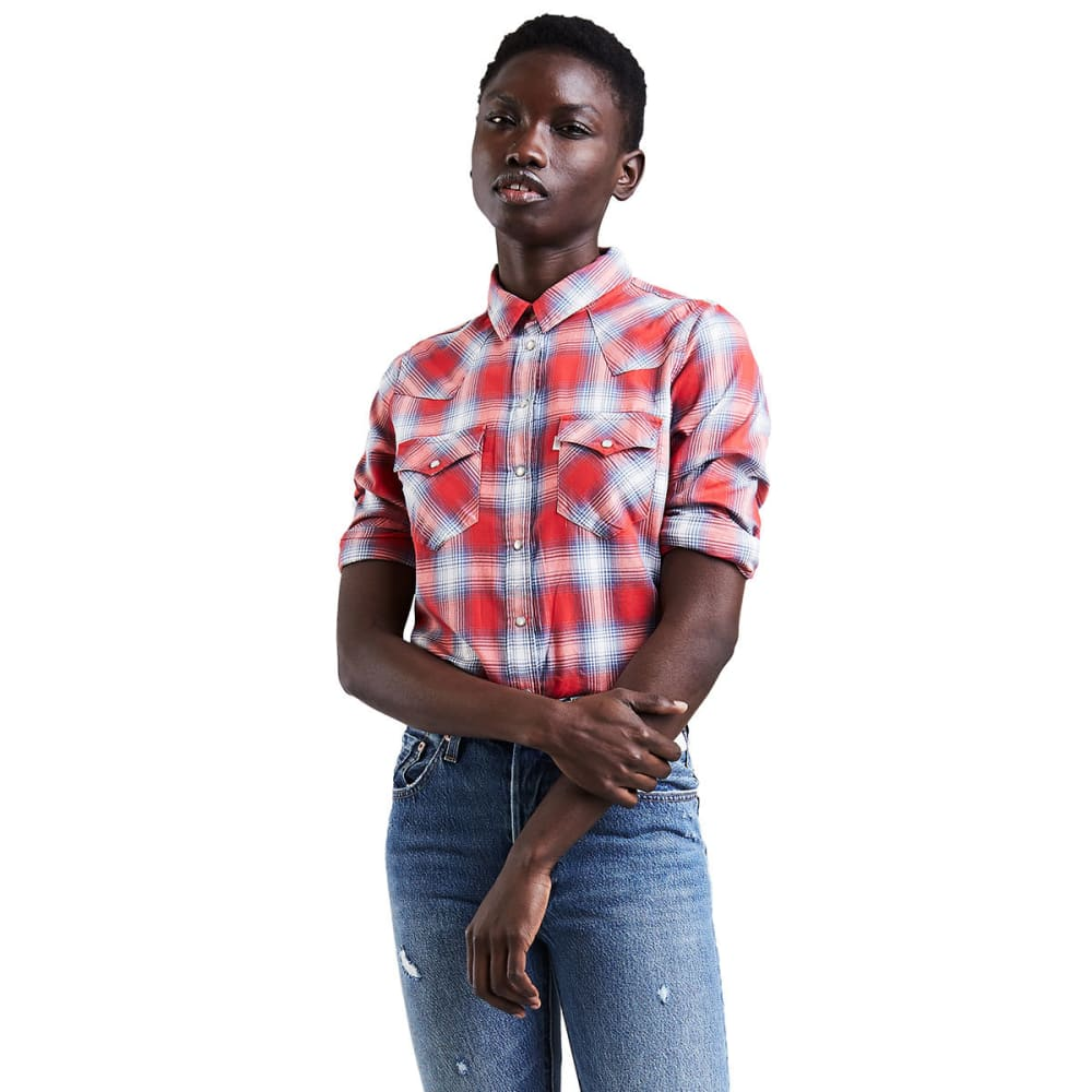 LEVI'S Women's Classic Western Plaid Shirt - 0076-ELM CLOUD DANCE