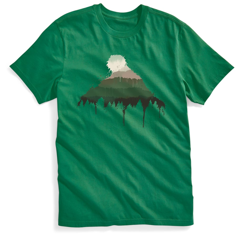 EMS® Men's Mountain Splash Graphic Tee - MEDIUM GREEN