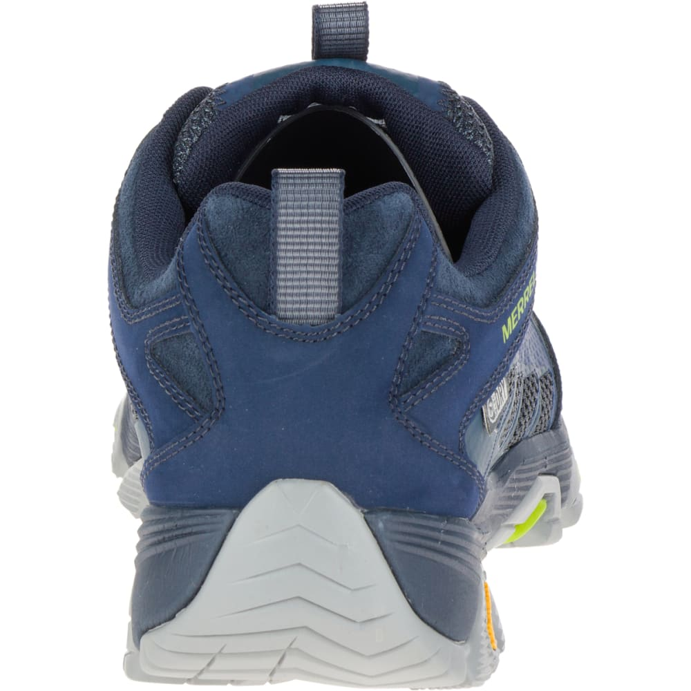 MERRELL Men's Moab FST Waterproof Wide Sneaker, Navy - NAVY