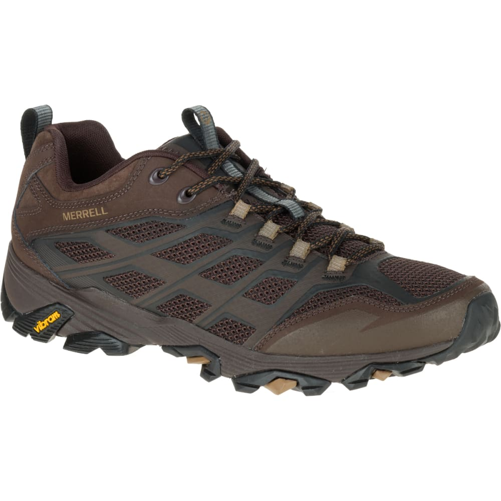 MERRELL Men's Moab FST Wide Sneaker, Brown - BROWN