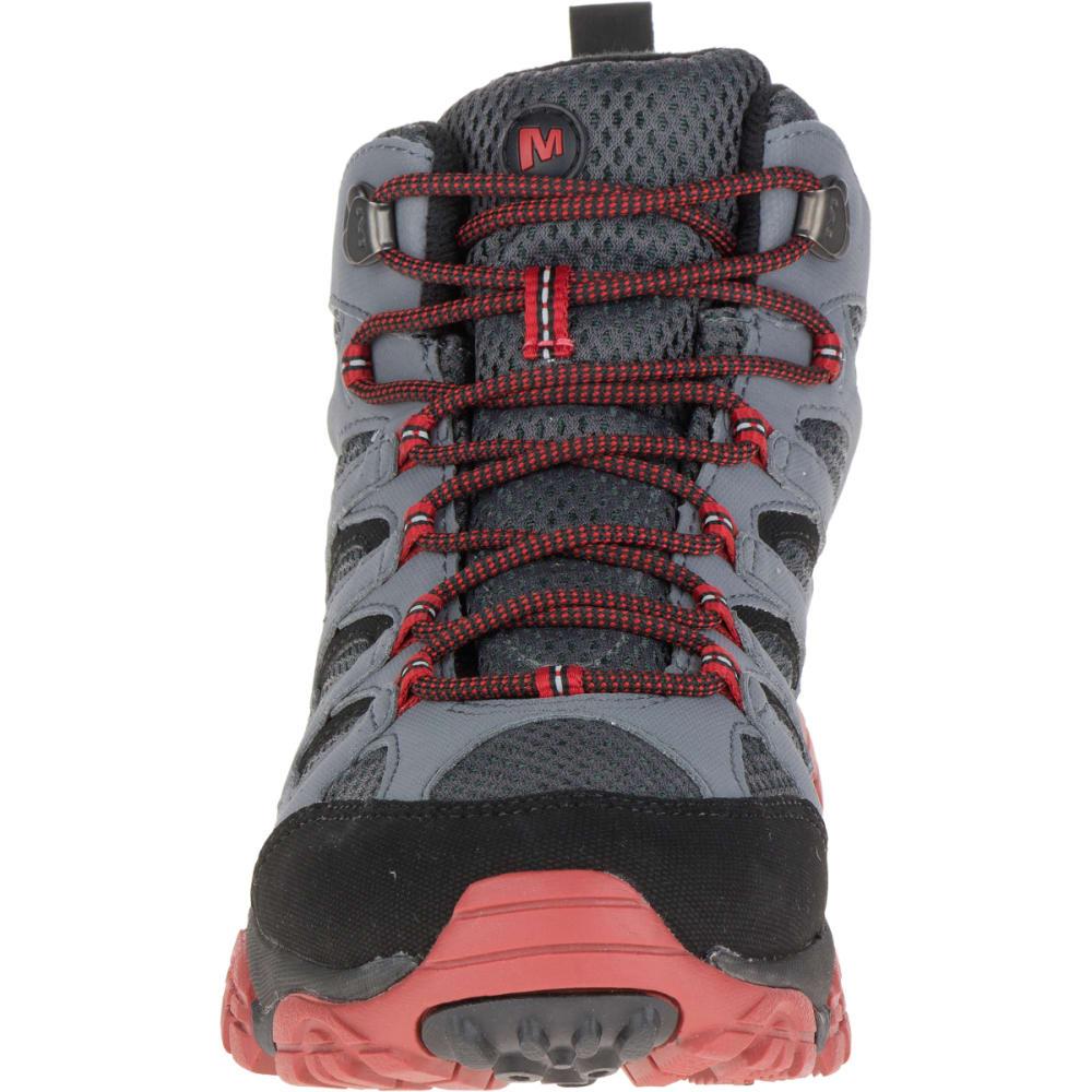 MERRELL Men's Moab Mid Waterproof Hiking Shoe, Castle Rock/Black - CASTELROCK/BLACK