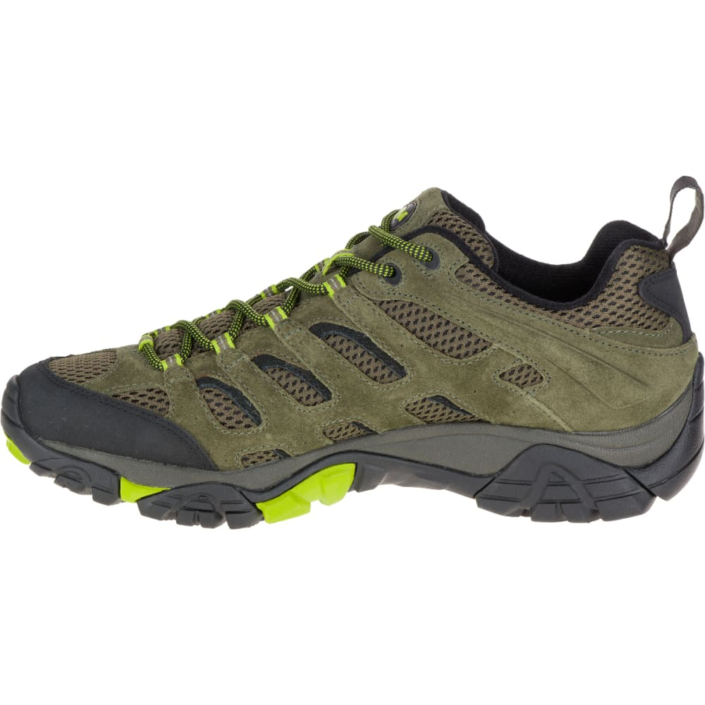 MERRELL Men's Moab Ventilator Hiking Shoe, Dusty Olive/Black - DUSTY OLIVE/BLACK
