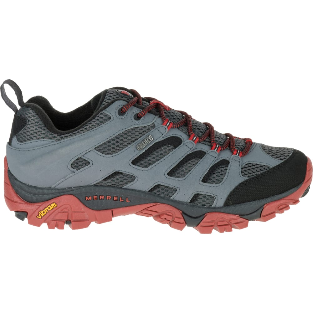 MERRELL Men's Moab Waterproof Hiking Shoe, Castle Rock/Black - CASTLEROCK/BLACK