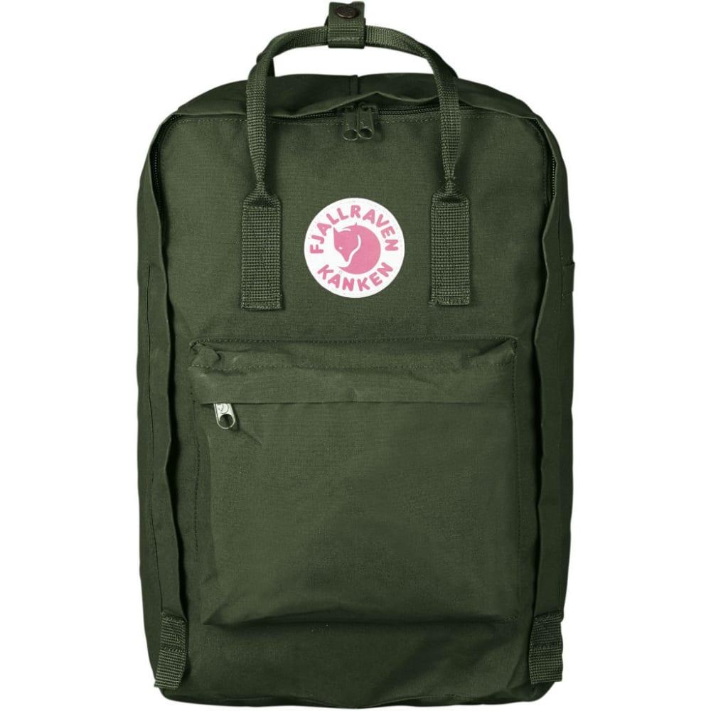 """FJALLRAVEN Kanken 17"""" Laptop Backpack - FOREST GREEN"""