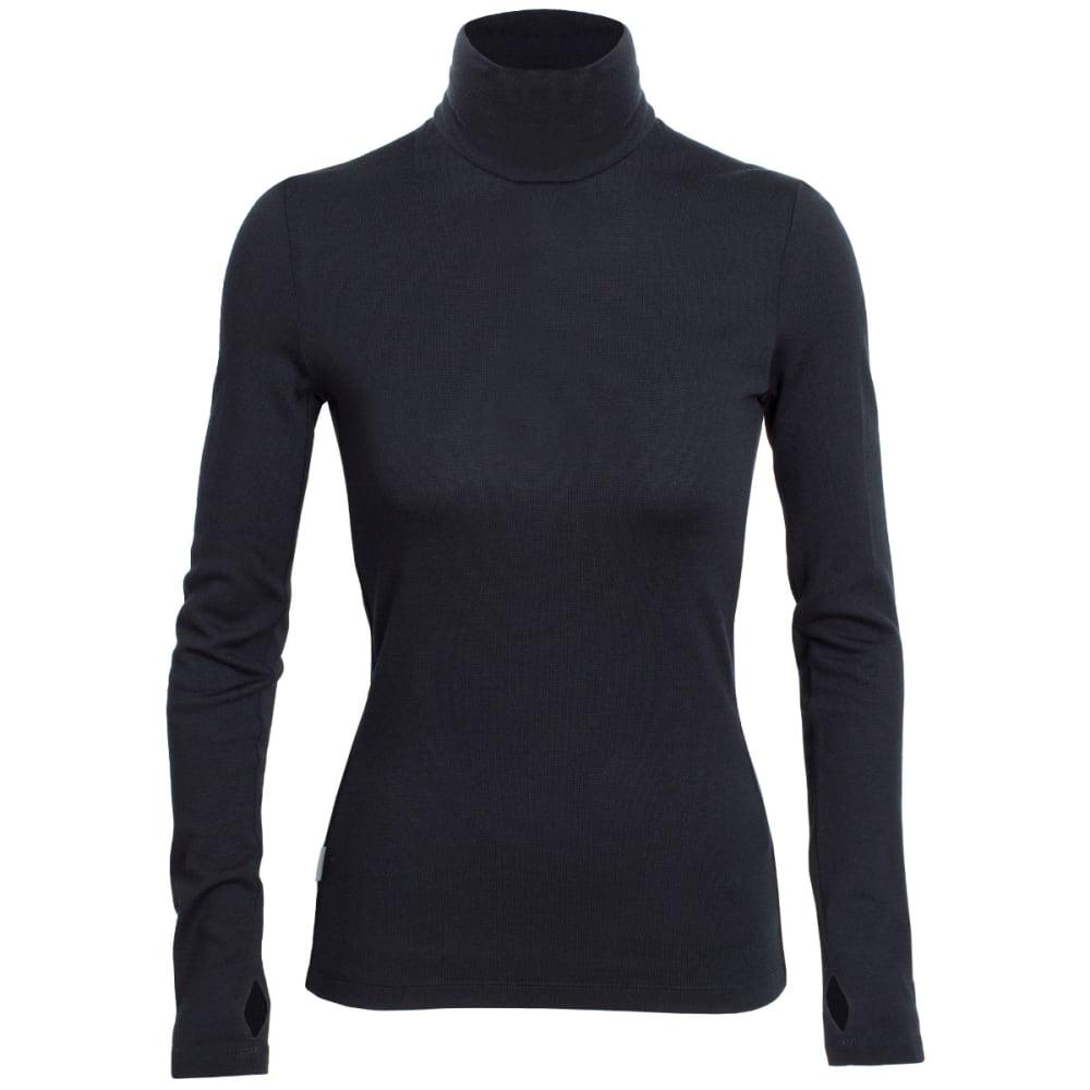 ICEBREAKER Women's Vertex Long Sleeve Turtleneck - BLACK/BLACK