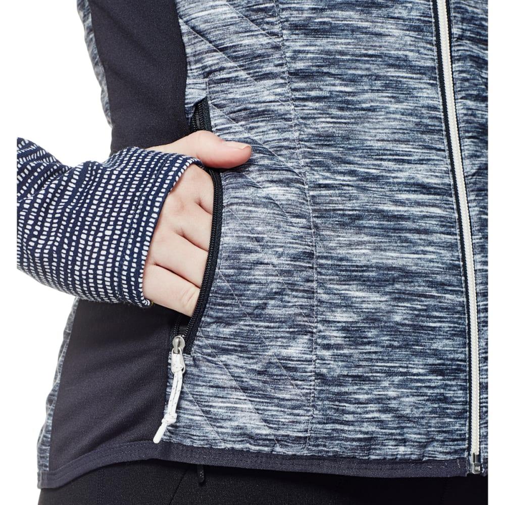 ICEBREAKER Women's Helix Vest, Fraser Peaks - GREY HTHR/STLTH/SNW