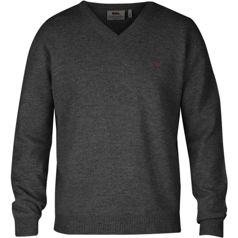 FJALLRAVEN Men's Shepparton Sweater - DARK GREY