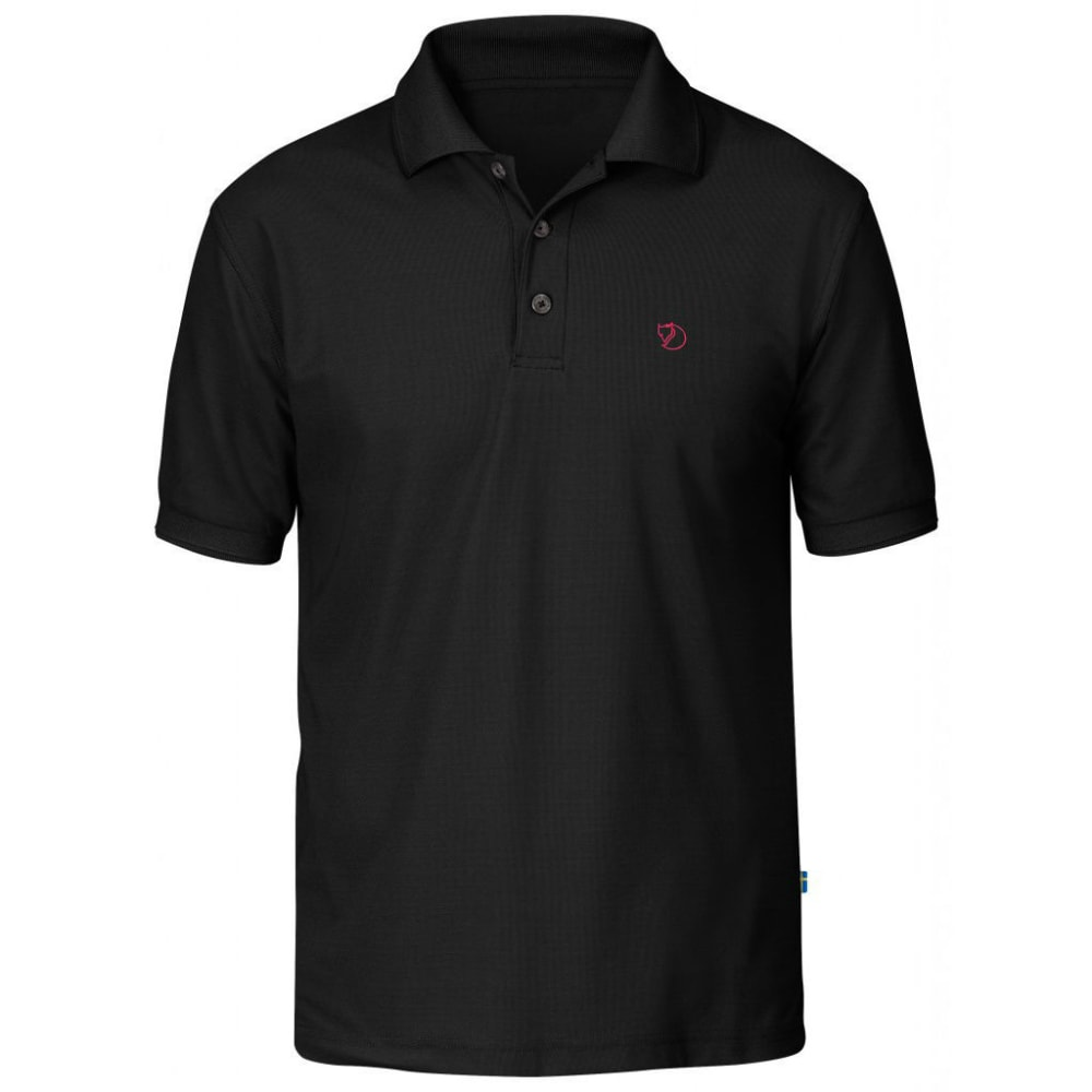 FJÄLLRÄVEN Men's Crowley Pique Polo Shirt - BLACK