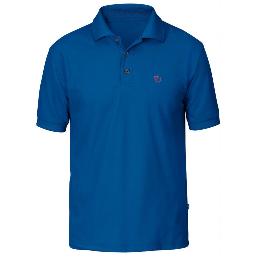 FJÄLLRÄVEN Men's Crowley Pique Polo Shirt - BAY BLUE